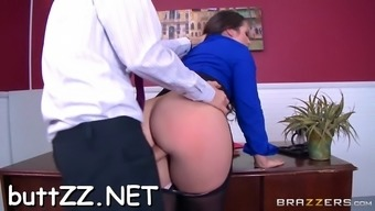 girl's ass spanked and fucked