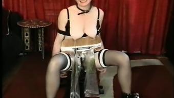 Kinky MILF is sex slave in weird bondage part6
