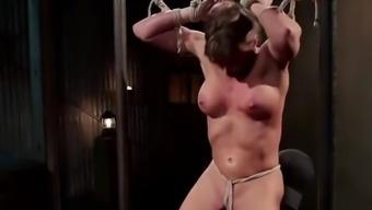 Ariel X enjoys hardcore BDSM pleasures