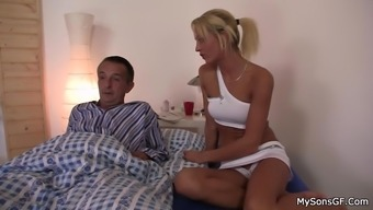 Caught his blonde bitch doggy-fucked by granpa