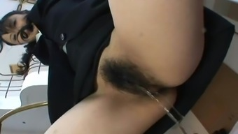 Drink up and clean my hairy pussy