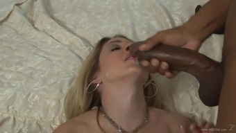 This naughty white cougar is addicted to big black cock