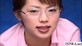 Subtitled CFNM POV Japanese femdom teacher handjob
