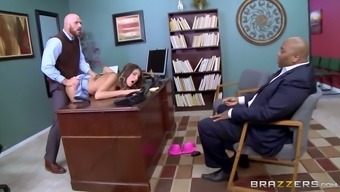 Tall coed with big tits is having an affair with her sex crazed teacher