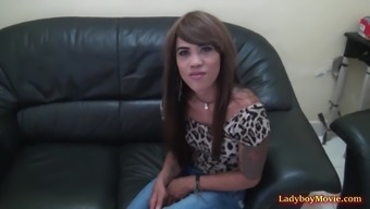 Ladyboy Sarah Gives A Blowjob