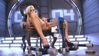 Famous bitch Cameron Dee enjoys testing crazy sex machine