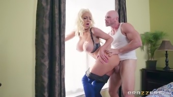 Nicolette Shea is a naughty brunette craving a lover's massive tool