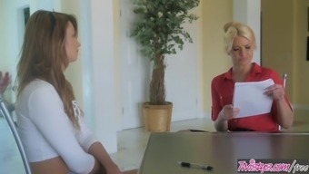 Twistys - Offbeat Job Interview - Anikka AlbriteAspen Ora