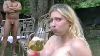 Giant boobs girls swallow  lot of piss