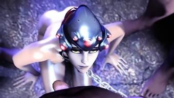 3D Toon - Teen gets creampied by three Big Dicks - 3D Hentai