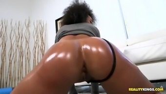 bootylicious ava sanchez gets boned by white fella in her latina pussy