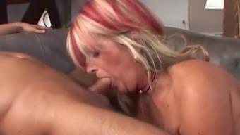 Old grandma gets anal creampie