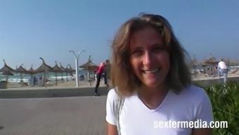 Julia, eine Deutsche Strandschlampe auf Mallorca