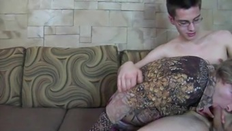 CD in dress gets cock in ass