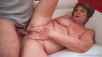 Old whore Sally G gets her pussy licked and fucked