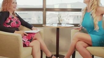 Hungarian porn star Sophie Evans loves giving interviews