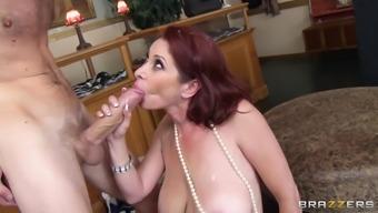 Slutty milf loves it in her ass