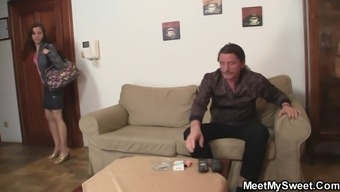 He finds her riding not his stepdad's cock