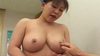 Busty Japanese nurse convinces her patient to have sex with her