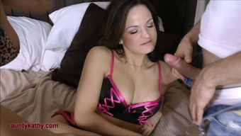 Two Milf's suck pervert voyeurs cock