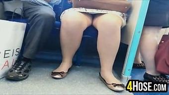Upskirt On The Subway