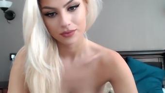 Webcam beautiful blonde blowjob dildo softcore