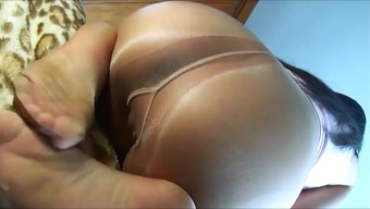 Super close up of pantyhose gusset