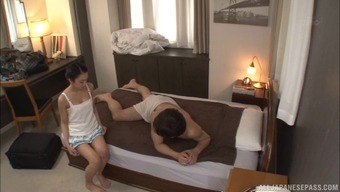Showered clean and massaged by a hot Japanese girl