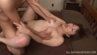Asian milf is fucked silly by a a horny stud