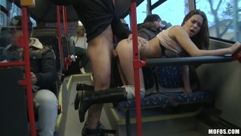 Rough sex in a public bus for the horny Bonnie