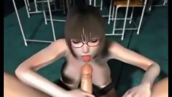 3D Hentai Teacher with big milk tits
