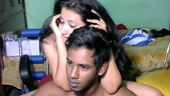 Beautiful Srilankan young wife and her sexy husband on webcam
