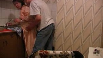 I couldn't resist to fuck my wife's hot BBW granny in kitchen