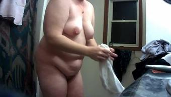 Big Nipple Wife After Shower on Hidden Cam 2