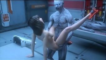 3D Freak Zombies Jizz on Girls!
