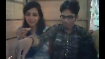 Bangladeshi Bf& GF in restaurant 4-Full on hotcamgirls . in