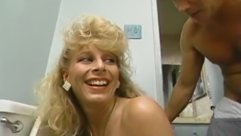 Two nasty milfs finger pussies in hardcore retro video