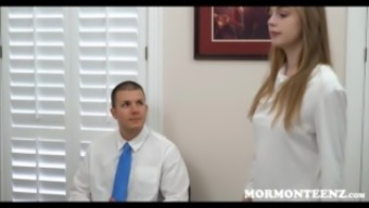Virgin Mormon Teen Dolly Leigh Fucked During Worthiness Interview