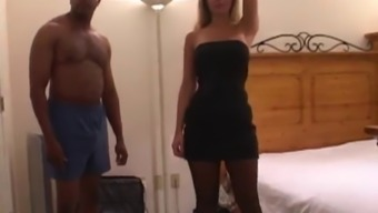 Wife Gangbanged with Husband on Phone. Creampie