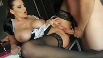 Sexy and busty maid Sensual Jane is an expert at fucking