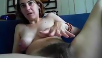 Very hairy and busty beauty