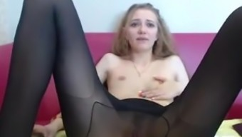 Cam in Black Pantyhose with Wendy 001