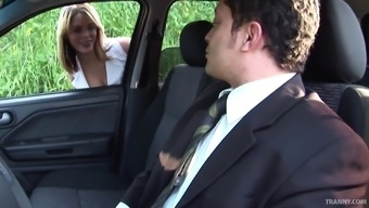 Expensive tranny hooker gets ass fucked by a businessman