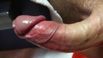 My huge cock get wanked in spite of me by a guy for a video !