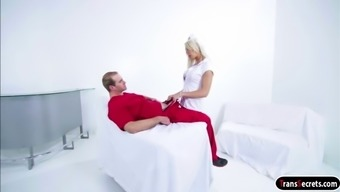 ts nurse aubrey kate gives head and is fucked by the doctor