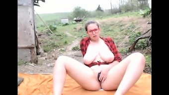 Busty wife outdoor bj and more