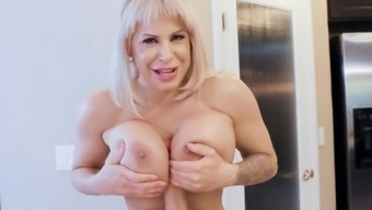 Busty mature in kitchen scenes of sex with her step son