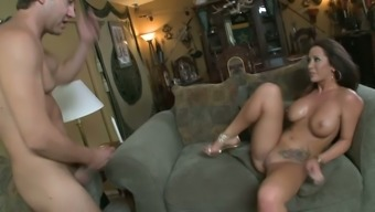 Jayden James is a looker and this divine babe fucks like a woman possessed
