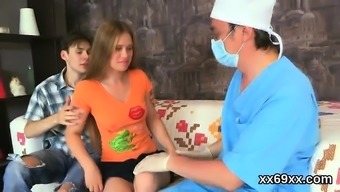 Dude assists with hymen checkup and penetrating of virgin gi