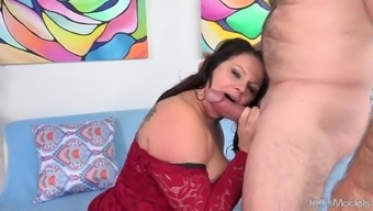 Full Figured Crystal Valentine Sucks a Fat Cock and Fucks It